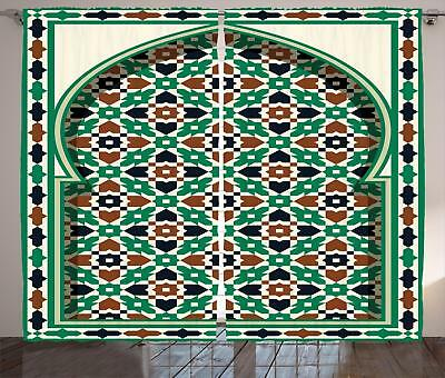 Moroccan Curtains 2 Panel Set Decor 5 Sizes Available Window Drapes