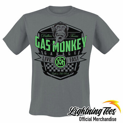 Official Gas Monkey Garage GMG Live Fast N Loud T-Shirt
