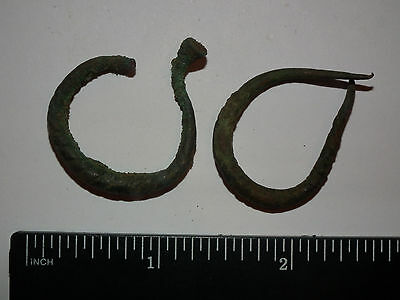 Ancient Old Bronze Fibula Brooch (269-0116)