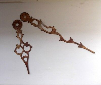 Pair of Antique Brass Clock Hands - NO RESERVE