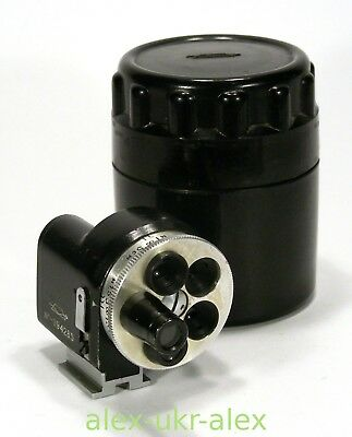 Russian VU Universal turret viewfinder 28-135 mm for RF camera.Exc-.№094285