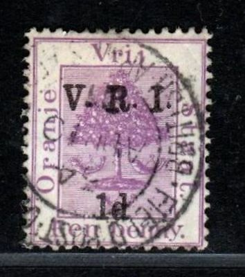 Orange Free State V.R.I. stamp with Postmark Army British Field Post Office
