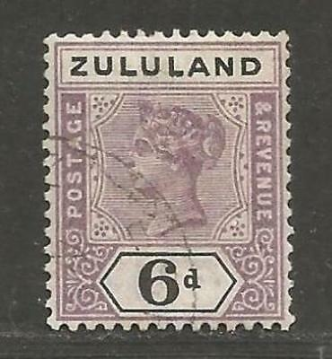 Zululand Natal South Africa Queen Victoria 1894 6 d used - see scan