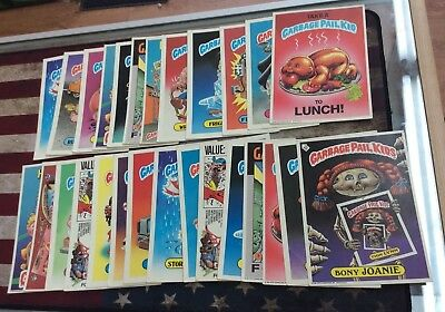 Lot Of 27 Original Garbage Pail Kids Giant Cards! See Pics! Have Wear!