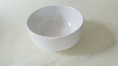 Steelite Plain White Soup Bowl Cafe 4 1/4  Inches Catering