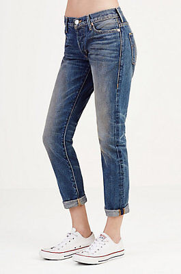 True Religion Women's Liv Low Rise Relaxed Skinny Jeans - WC547VM9 Size 25