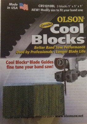 Olson Genuine Cool Blocks CB51010BL Modify size to fit your Band Saw