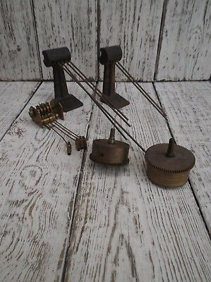 Lot Of Vintage Clock Chimes + 2 Cogs Clock Spares Clock Parts - Steampunk !