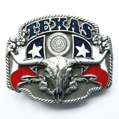 Texas Longhorn State Flags Metal Fashion Belt Buckle