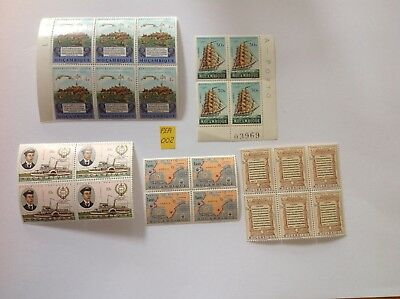 mozambique 1963-72 blocks x 5, mnh