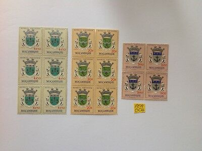 mozambique 1961 x 3 blocks mnh