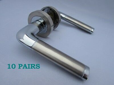 1-10 SETS Polished CHROME MORTICE Door Knobs INTERNAL Door Handle Knobs D12
