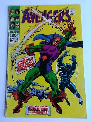 The avengers #52 first appearance grim reaper