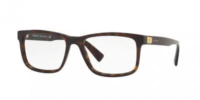 9e312814bf2fa Versace Men Rectangular Eyeglasses VE3253A 108 Brown Frame Demo Customized  Lens
