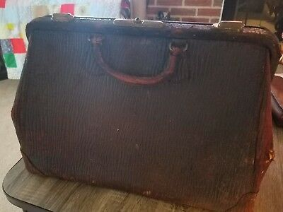Antique Leather Henry Likly Doctor's Bag Black Rochester, New York