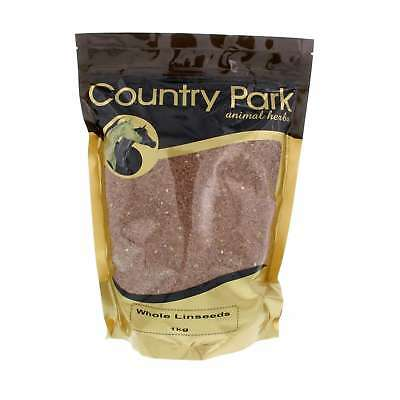 Whole Linseeds Flaxseeds High Omega 3 Country Park Horse Equine 1kg Supplement