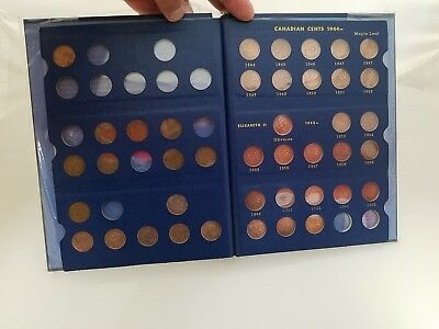 1920-1964 Canada Small Cents Collection in Whitman Albums 41 Coins (92)