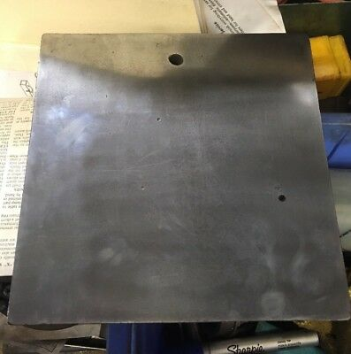 "Surface Plate Cast Iron 7x7x1.5"" Vintage Machinist Inspection Tool Mill Lathe"