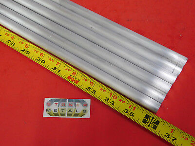 "6 Pieces 1/2"" ALUMINUM 6061 ROUND ROD 36"" long .50"" Solid T651 Lathe Bar Stock"