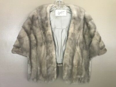 Grey Mink Wrap Vintage Genuine Mink Fur Stunning!