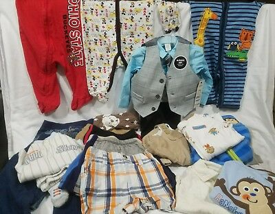Huge Lot 23 Pc. Baby Boy 3-6 Mo. Clothes. Large Assortment George Suit With Tags