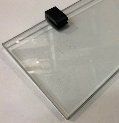 Bathroom Accessories - Glass Shelf Black Square / Round Design Model Xanthi