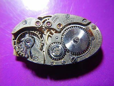 ZENITH Watch Movement Oval Vintage 1930 Dial and Hands