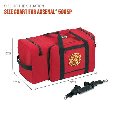 Ergodyne Arsenal 5005P Large Firefighter Rescue Turnout Fire Gear Bag, Red