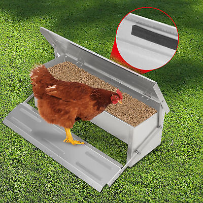 4.7KG Automatic Chicken Feeder Treadle Self Opening Aluminium Duck Food Poultry
