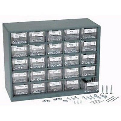 Assorted SAE & Metric Nuts and Bolts Screws In Organizer Bin Drawers
