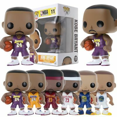 FUNKO POP NBA Basketball World Star - Kobe James Curry Action Figure Collection