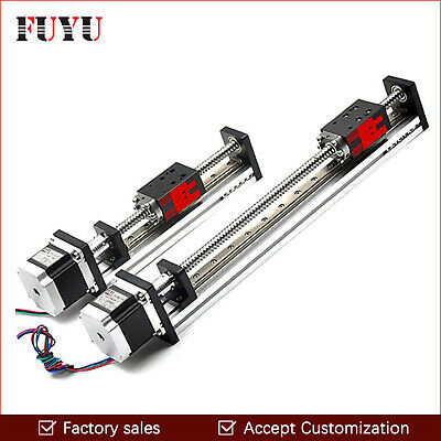 CNC Linear Guide Stage Ball Screw Motion Actuator Slide Rail Router Nema23 Motor