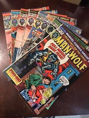 Creatures On The Loose 30,31,32,34,35(2X), 36,37 Man-Wolf Lot 1974-1975 Vg/vf