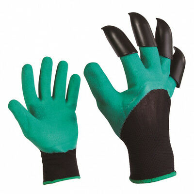 2 Pairs Garden Genie Gloves with Claws Waterproof Gardening for Digging Planting