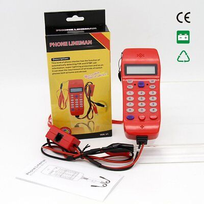 NF-866 Phone Line Cable Tester DTMF Caller ID Auto Detection Search Machine O6