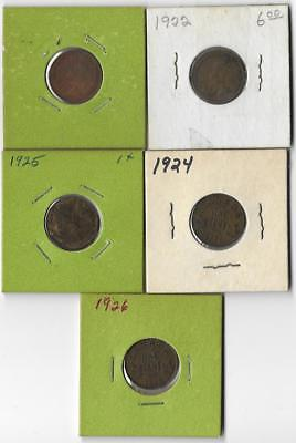 1922-26 CANADA 1 CENT Keydate Collector Coin lot! RARE!