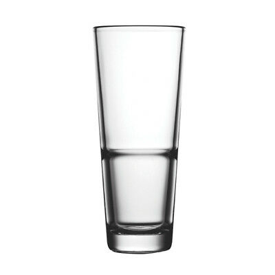 24x Crown Commercial Pasabahce Crowntuff Grande Glass Tumbler 300ml Mixed Drink