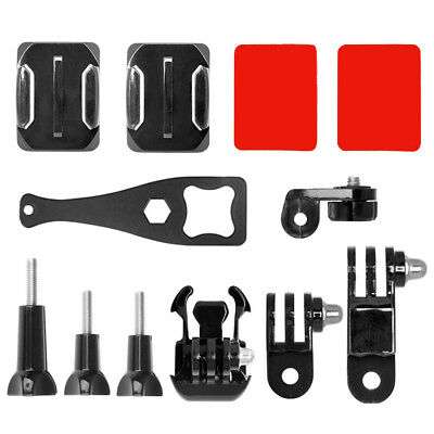 12 in 1 Action Camera Helmet Side Mount Kit Adhesive Mount Accessories For GoPro