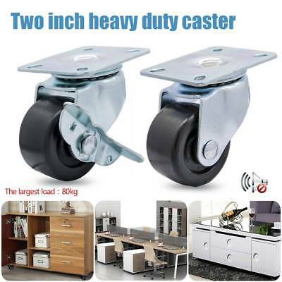 2In. Tablet Caster Brake/Movable Wheel 80kg Heavy Duty truckle Trolley Furniture