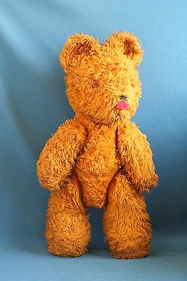 A giant vintage antique teddy bear from the 1960's 27 inch bear stuffed doll toy