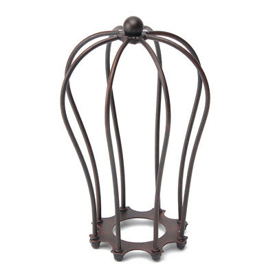 Industrial Vintage Antique Metal Wire Bulb Cage Guard Lampshade Trouble Light US