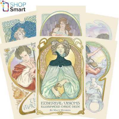 Ethereal Vision: Illuminated Tarot Deck Cards Esoteric Us Games Systems New