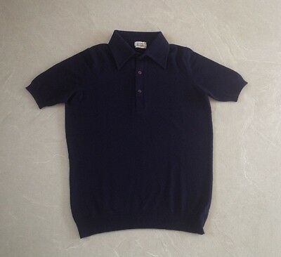 PRINGLE'S SCOTLAND ARCHIVIAL CASHMERE EARLY 70'S MAN'S POLO new