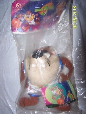 "TAZMANIAN DEVIL 8"" PLUSH- McDONALD'S 1996 SPACE JAM BASKETBALL  LOONEY TUNES TAZ"