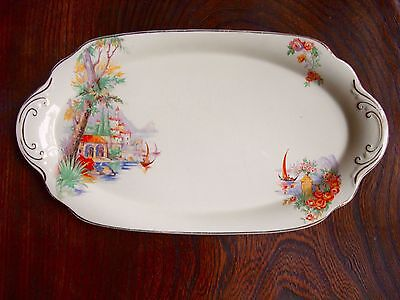 J&G Meakin antique biscuit/serving/plate/platter/tray. High tea. 28x15cms.EC.