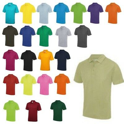 AWDis Mens Cool Performance Polyester Wicking Active Training Gym Polo Shirt New