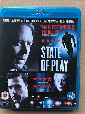 RUSSELL CROWE BEN AFFLECK State Of Play 2009 Conspiracy SUSPENSE GB BLU-RAY