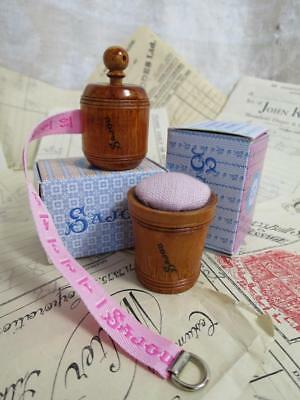 Sajou Hornbeam Wooden Tape Measure/ Pin Cushion- Pink