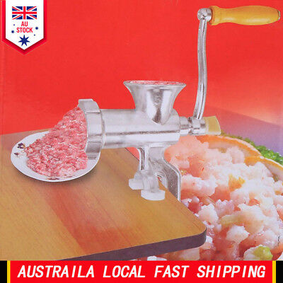 Meat Grinder Hand Operate Manual Sausage Beef Mincer Maker Table Home Kitchen EB