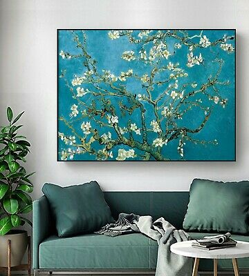 Van Gogh Almond Blossom Stretched Canvas Print Framed Wall Art Home Decor